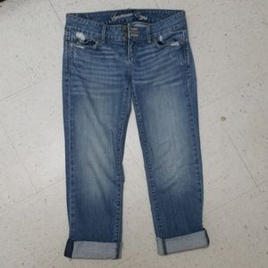American Eagle Jeans- cropped/rolled, size 2